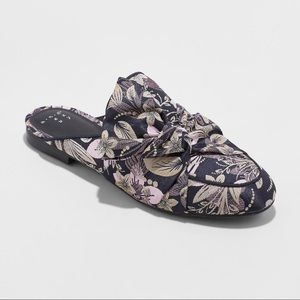Women's Holland Jacquard Knotted Mules - New-B9